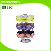 3-Tiers Chromed Dolce Gusto Coffee Capsule Dispenser